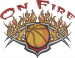 Basketball On Fire embroidery design