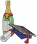 Graduation Champagne embroidery design