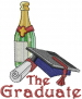 The Graduate embroidery design