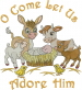 Baby Manger Animals embroidery design