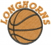 Longhorns Basketball embroidery design
