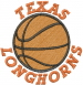 Texas Longhorns Basketball embroidery design
