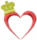 Heart and Crown embroidery design