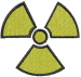 Radiation Symbol embroidery design