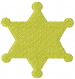 Sheriffs Star embroidery design