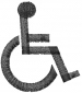 Handicapped Symbol embroidery design