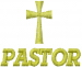 Pastor embroidery design