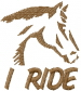 I Ride embroidery design