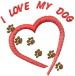 I LOVE MY DOG embroidery design