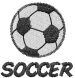 SOCCER embroidery design