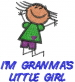 IM GRANMAS LITTLE GIRL embroidery design