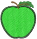 Apple 1 GREEN embroidery design