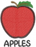 Apple 1 APPLES embroidery design