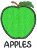 Apple 1 GREEN APPLES embroidery design