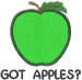 Apple 1 GREEN GOT APPLES embroidery design