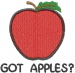 Apple 1 GOT APPLES embroidery design