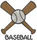 Baseball BASEBALL embroidery design