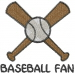 Baseball BASEBALL FAN embroidery design