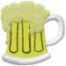Beer Mug embroidery design