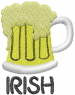 Beer Mug IRISH embroidery design