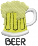 Beer Mug BEER embroidery design