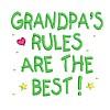 Grandpas Rules embroidery design
