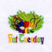 Fat Tuesday embroidery design
