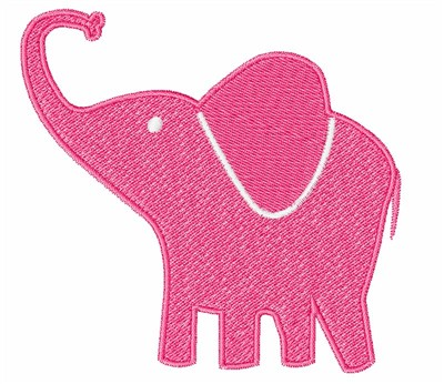 1Z Embroidery Embroidery Design Pink Elephant 300 Inches
