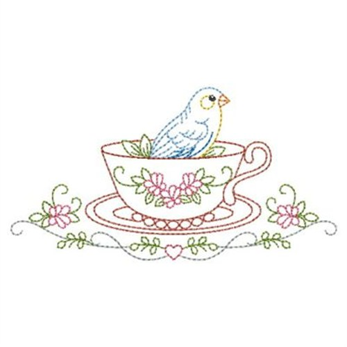 Free Teacup Machine Embroidery Designs