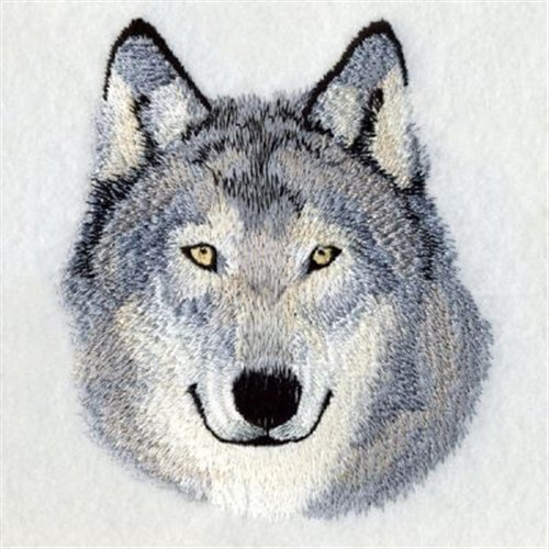 Ace Points Embroidery Design Wolf Head 381 Inches H X 3