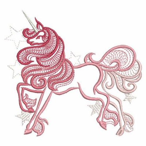Ace points embroidery design prancing unicorn inches