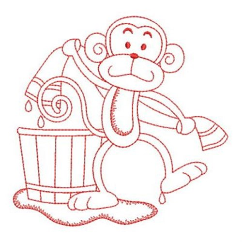 Ace points embroidery design bath time monkey inches for Bathroom embroidery designs