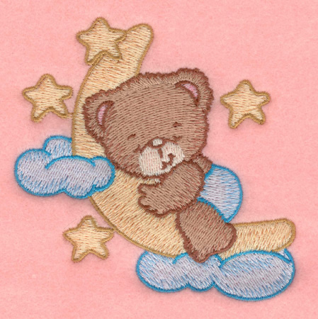 Teddy Bear Cloud Machine Embroidery Designs