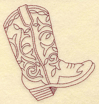 Cowboy Boot Pattern Cake Ideas and Designs