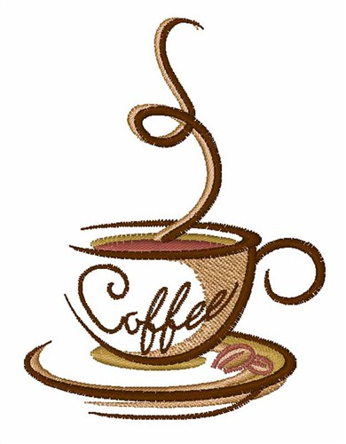 Free Coffee Embroidery Image | Joy Studio Design Gallery - Best Design