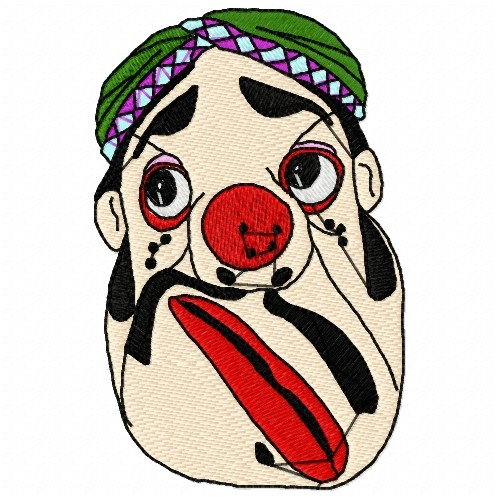 Annthegran embroidery design funny face inches h