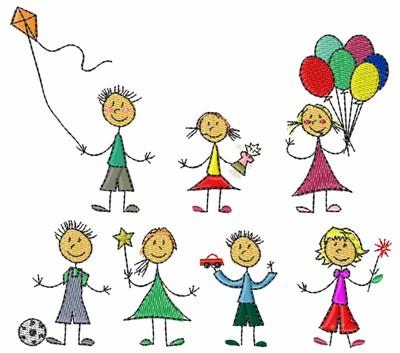 Bella Mia Designs Embroidery Design Stick Kids 3 87