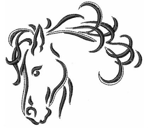 Concord Collections Embroidery Design Horse 315 Inches H