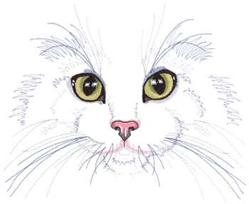 Dakota Collectibles Embroidery Design Cat Face 722