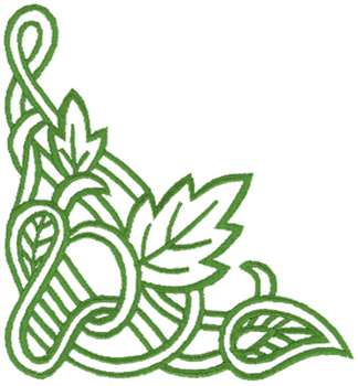 Dakota Collectibles Embroidery Design: Floral Corner ...