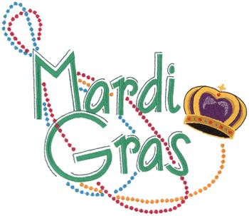 Heads Embroidery Design: Mardi Gras Masks from Machine Embroidery