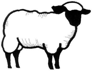 Dakota Collectibles Embroidery Design: Sheep Outline 5.19 ...