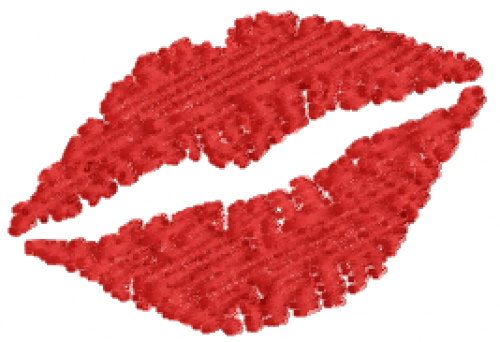 Kissing Lips embroidery design Picture Of Lips Kissing