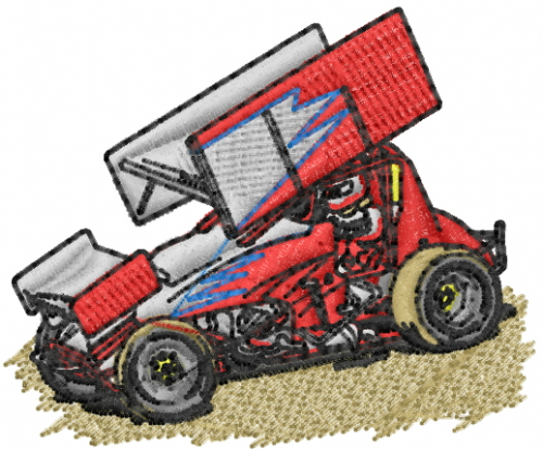 Sprint Car Graphics Design Sprint Car Embroidery Design