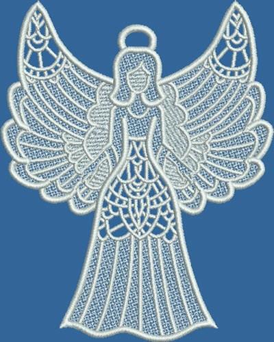 Design Whiz Embroidery Design Fsl Angel 6 23 Inches H X 4