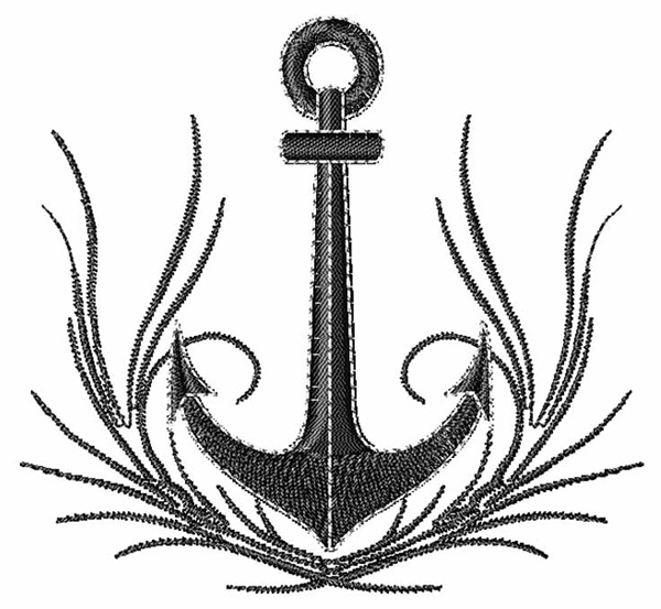 Black anchor design
