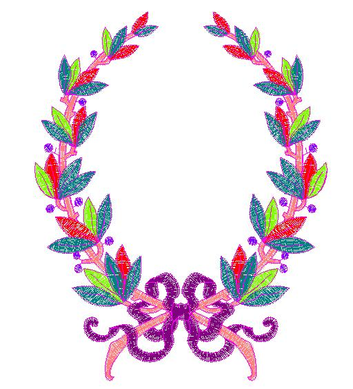 Embroidery patterns free design laurel wreath
