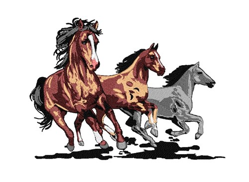 yulia free embroidery design running horses 735 inches h