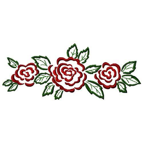 Gosia Embroidery Free Embroidery Design Rose Border 764