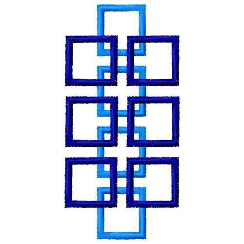 Gosia embroidery design geometric border